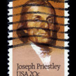 Joseph Priestley, english theologian and scientist — Stock Photo
