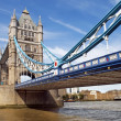 Central span of the Tower Bridge in London, UK — Stock Photo