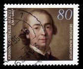 Johann Gottfried Herder, german philosopher, theologian — Stock Photo