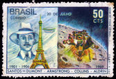 Alberto Santos Dumont, brazilian aviation pioneer — Stock Photo