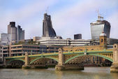 Modern construction in London — Stock Photo