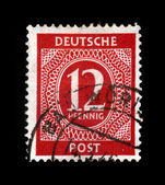 Old postage stamp, germany — Stock Photo