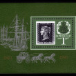Penny Black - the first postage stamp in the world — Stock Photo