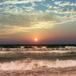Sunset by the Mediterranean sea — Stock Photo