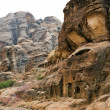 Colorful rock formations of Petra in Jordan — Stock Photo #39916523
