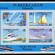Stock Photo: Turks and Caicos Island, ships and map of islands