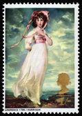 Miss Sarah Moulton-Barrett, by Sir Thomas Lawrence — Stock Photo