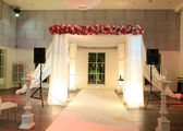 Wedding canopy (chuppah or huppah) in jewish tradition — Stockfoto