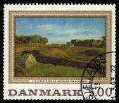 Johan Thomas Lundbye, Landscape from Vejby — Stock Photo
