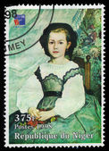 Mademoiselle Romaine Lacaux by french painter Pierre Auguste Renoir — Stock Photo