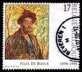 Self portrait (the man with the beard), painted by Felix de Boeck — Stock Photo