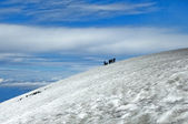 Ascent to the Villarrica Volcano — Stock Photo