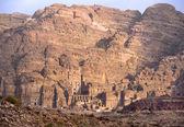 Remains of nabatean city Petra in Jordan — Stock Photo