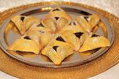 Hamantash cookies for Jewish festival of Purim — Stock Photo