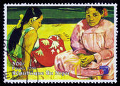 Painting by Paul Gauguin, Tahitian Women on the Beach — Stock Photo