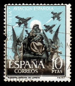 Madonna of Loretto, Patron Saint of Spanish Airmen — Stock Photo