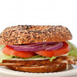 Stock Photo: Turkey Bagel Sandwich