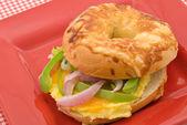 Breakfast Bagel — Stock Photo