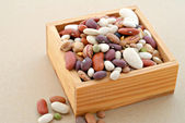 Beans in a Box — Stock Photo