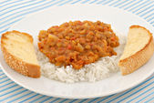Lentils and Rice — Stock Photo