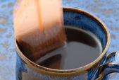 Dunking Tea Bag — Stock Photo