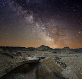 Milky Way over the desert — Stock Photo