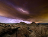 Storm over the desert — Stock Photo