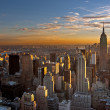 Sunset over manhattan — Stockfoto #31500799