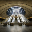 The Canary Wharf tube station , London — Stockfoto