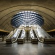 The Canary Wharf tube station , London — Stock Photo