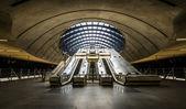 The Canary Wharf tube station , London — Stock Photo