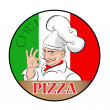 Royalty-Free Stock Vector Image: Pizza Chef-cook