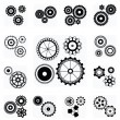 Gearwheel mechanism icon — Stock Vector #25144503