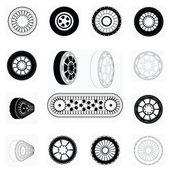 Tire icons — Stock Vector