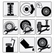 Royalty-Free Stock Vector Image: Repairs Auto Car icons