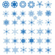 Collection of 38 snowflakes — Stock Vector