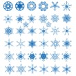 Royalty-Free Stock Vector Image: Collection of 38 snowflakes