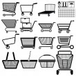 Shopping cart — Vector de stock #25485709