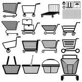 Einkaufswagen — Stockvektor