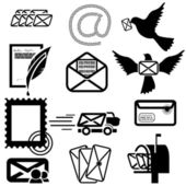 E-mail icons — Stock Vector