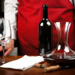 Sommelier with red wine — Stock Photo