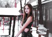 Mladí zimní dívka — Stock fotografie