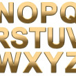 Gold Alphabet N- Z — Stock Photo #23472150