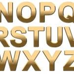 Gold Alphabet N- Z — Stock Photo