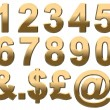 Gold Numbers & Punctuation — Stock Photo #23472204
