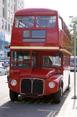 London Bus Face On — Stock Photo