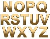Gold Alphabet N- Z — Stock Photo