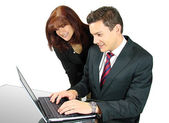 Business Team with a Laptop — Stock Photo