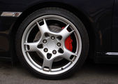 Sports Car Wheel, — Stock Photo