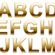 Shiny Gold Letters On White — Stock Photo #37985773